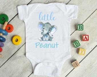 f7e676b349d899 Elephant little peanut Onesie® Cute blue Elephant Infant bodysuit or  Toddler T-shirt