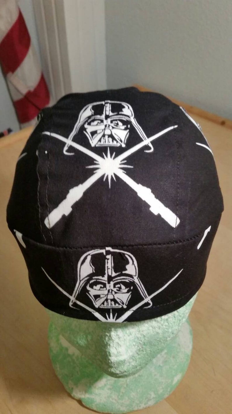 3228d411 May the 4th Be With You Darth Vadar Skull Cap Helmet Lined Du Rag hat chemo  cap surgical hat motorcycle Do Rag Chef Hat