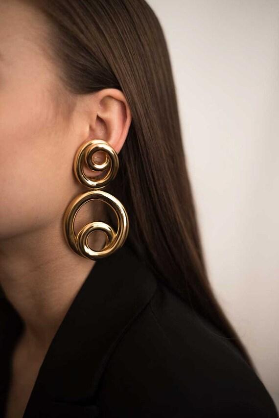 JENNIFER GIBSON JEWELLERY 1990s Dior Vintage Hoop