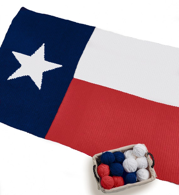 Republic Of Texas Lone Star State Flag Afghan Pattern Fun And