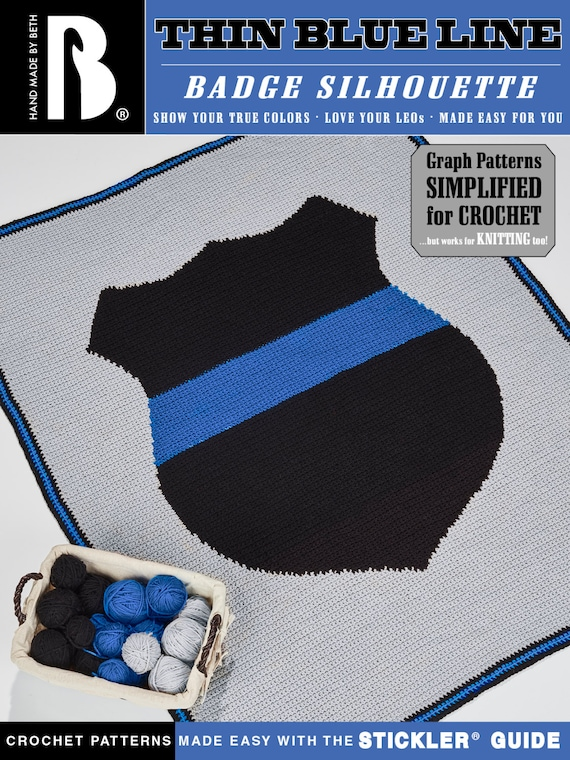 Thin Blue Line Badge Afghan Pattern Fun And Easy For Crochet Etsy