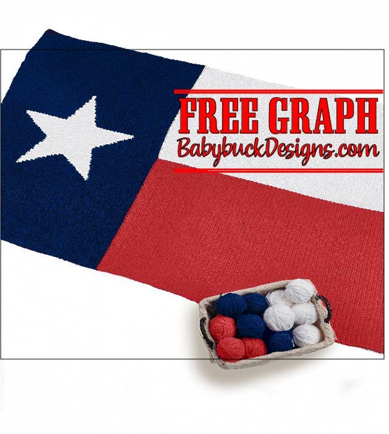 Republic of Texas  Lone Star State Flag Afghan Pattern  fun image 0