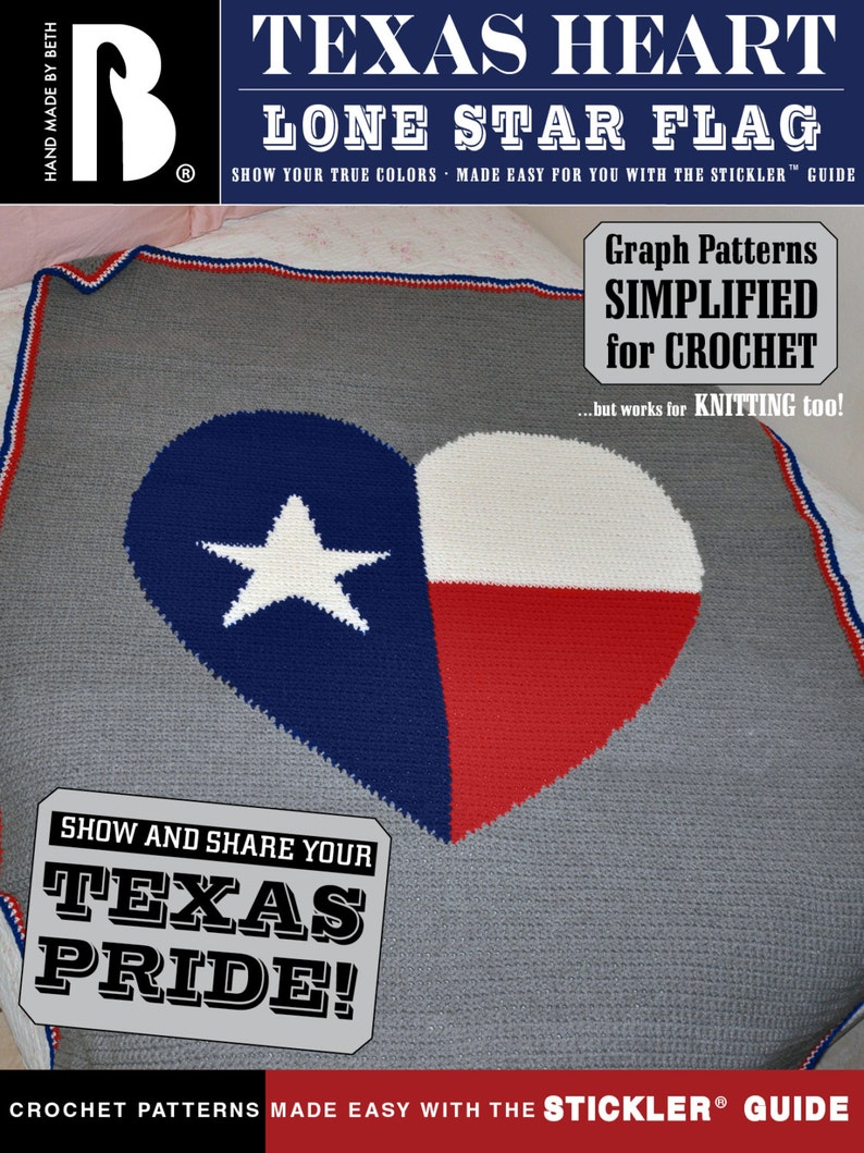 Texas Heart Lone Star Flag Afghan Pattern  fun and easy to image 0