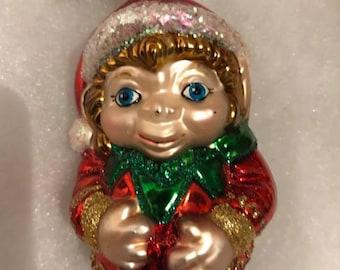 Ornament -This little Elf is Santas Helper Ornament