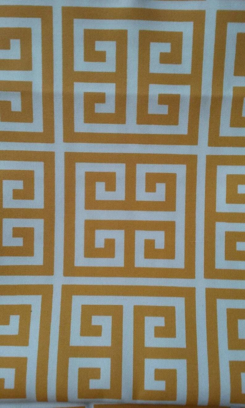 Home Decor Fabric Yellow And White Greek Key Premier Prints Etsy
