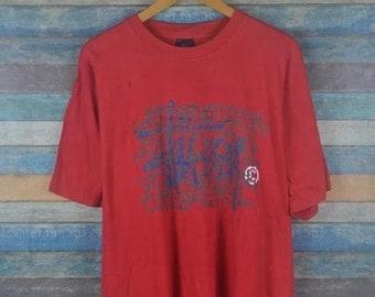 02d3925d6375 Vintage 90s Stussy logo USA skate thrasher shirt