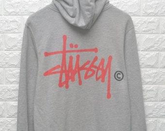 7d60eecd91a Vintage Stussy 90s Logo hoodie sweater skate thrasher US L   EU 52-54   3
