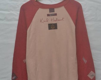 e727909636d49 Vintage 90s Karl Helmut patch sweatshirt designer US XL / EU 56 / 4
