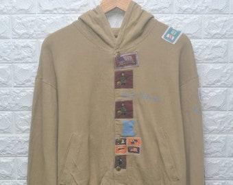 69cb41b7b0d4 Vintage 90s Karl Helmut patch hoodie sweater US XL   EU 56   4