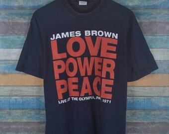 ea5b6d581fc Vintage SUPREME James Brown Love Power   Peace shirt US L   EU 52-54   3