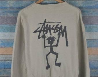 7af27678c812 Vintage Stussy 90s stickman sweatshirt US L / EU 52-54 / 3