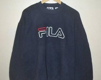 1da9240f34d Vintage Fila big logo spellout sweatshirt