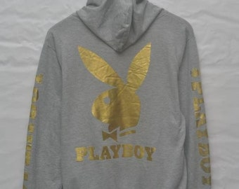 9e2f6c853f28 Vintage 90s Playboy big gold logo bunny hoodie sweater US L / EU 52-54 / 3