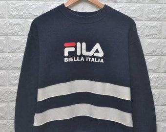 Vintage Fila Biella italia stripe sweatshirt