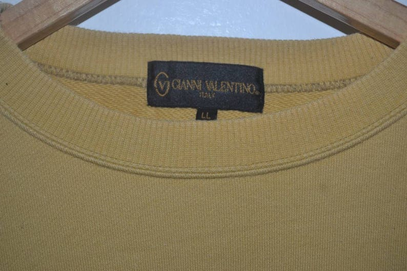 Vintage Gianni Valentino logo 90s pullover crewneck sweatshirt