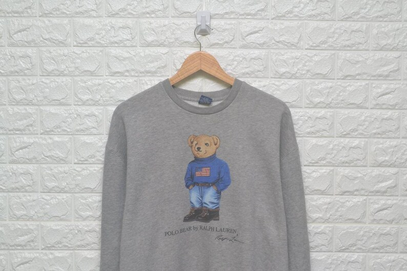 5736ec09 Vintage 90s Polo Bear By Ralph Lauren 90s sweatshirt US XL / | Etsy