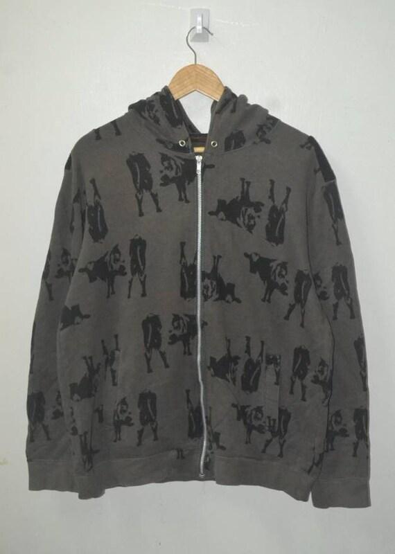 Undercover Jun Takahashi cow print hoodie jacket