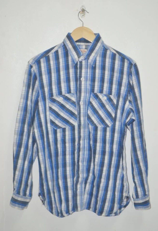 Canne à sucre Vintage Toyo à carreaux Casual Union fait chemise Casual  carreaux en coton d6fbfa b7686f47afe