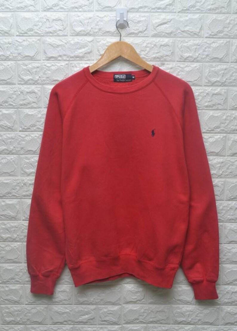 fbce42210 Vintage 90s Polo Ralph Lauren pony 90s red sweatshirt