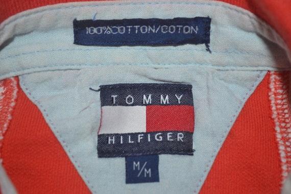 star big rugby 90s shirt Hilfiger logo striped Vintage Tommy usa wxnSaq4