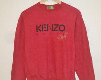 Vintage Kenzo Paris Embroidred Golf 90s sweatshirt