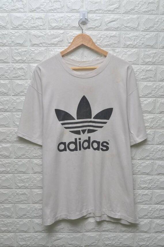 Vintage Adidas Trefoil camisa gráfica de manga larga Medium
