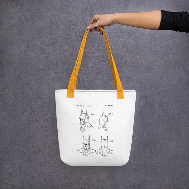 Batman Mask Cosplay Canvas Tote Bag Superhero Gift Patent