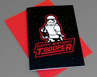 Joyeux anniversaire Trooper / carte d'anniversaire Starwars / stormtrooper