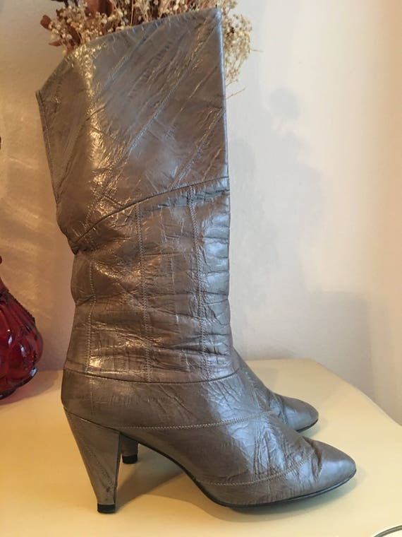 Vintage Eel Skin Boots - image 6