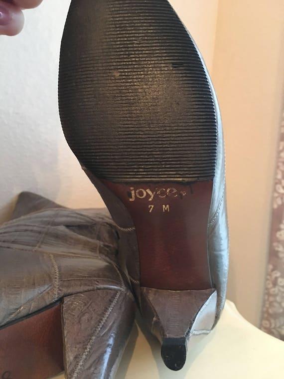Vintage Eel Skin Boots - image 3