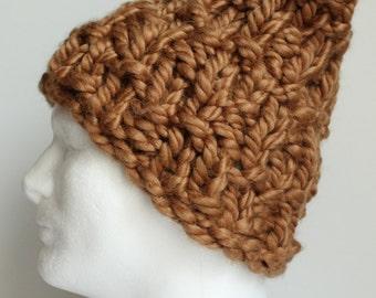Gold Chunky handknit Hat