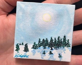 Miniature Snowy Landscape