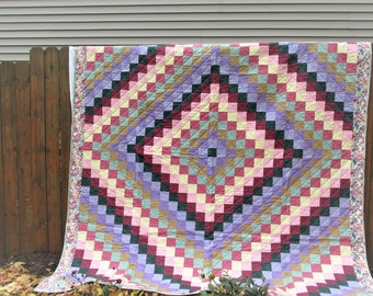 Trip Around the World...A handmade quilt fit for a Queen (bed that is!)