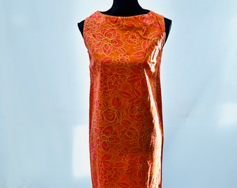 Orange Shift Dress Etsy