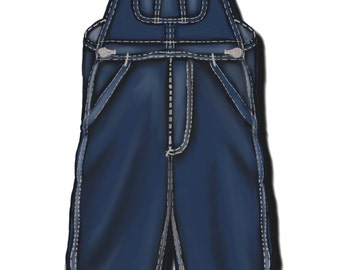 Men's Bib Overalls, 4 different pattern sizes
