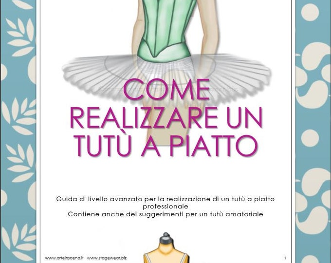 Pancake tutu, 2 patterns plus tutorial, in Italian