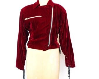 30177aeb91e48 RARE Lip Service Velvet 80 s - 90 s biker jacket