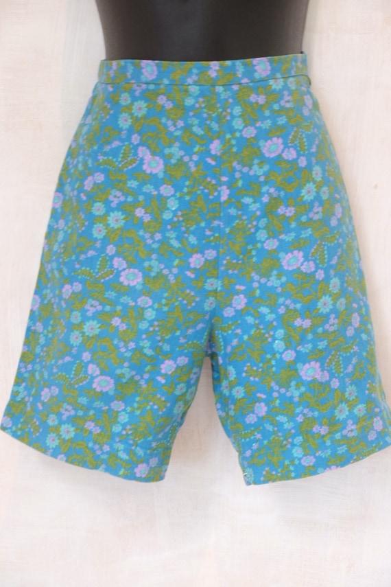 REDUCEDCotton,linen look,high waist,side zip,1950-