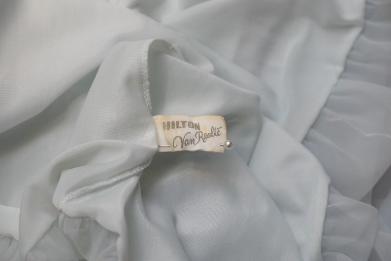 REDUCED 1960s Palest blue green Nightdress,negligee,boudoir,mushroom hem,honeymoon .