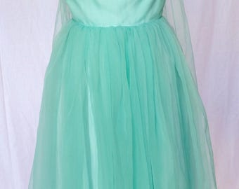 1950s,1960s,minty green,evening,black tie,party,wedding ,bridesmaid, strapless, dress.formal,prom