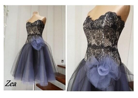 robe de bal zoe am thyste noir robe de cocktail robe de etsy. Black Bedroom Furniture Sets. Home Design Ideas