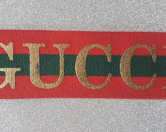 cb39372dbc9 Womens Girls kids Gold red stripe Gucci inspired elastic luxury headband  fashionband hairband head wrap stylish letters sportband