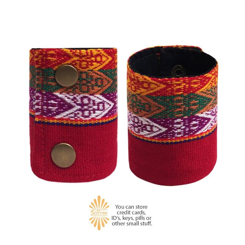 Secret Wallet Bracelet Travel and Music Festival Accessory Perfect Party Ethnic Peru WRIST WALLET