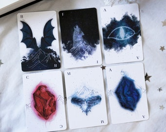 Deck of Cards, Inner Circle Characters, Set of 6 Playing cards sized, ACOMAF inspired