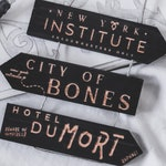 Wooden signs, laser engraved | Inspired by the Shadowhunter World | Handmade