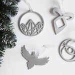 CHRISTMAS ORNAMENTS SET | Handmade in wood or plexiglas | Fandom designs | Inspired by movies and literature
