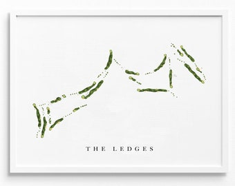 The Ledges Golf Club   Huntsville, AL   Golf Course Map, Golfer Decor Gift for Him, Scorecard Layout   Art Print UNFRAMED