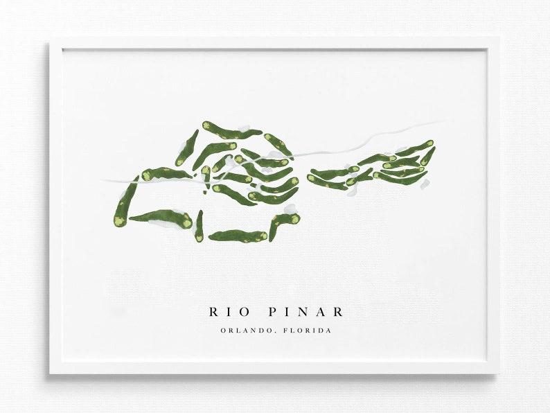 Rio Pinar | Orlando, FL | Watercolor Print, Course Map Layout | 11