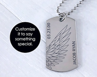 Luxury Dog Tag Necklace Unique Gifts Store Navy Brother