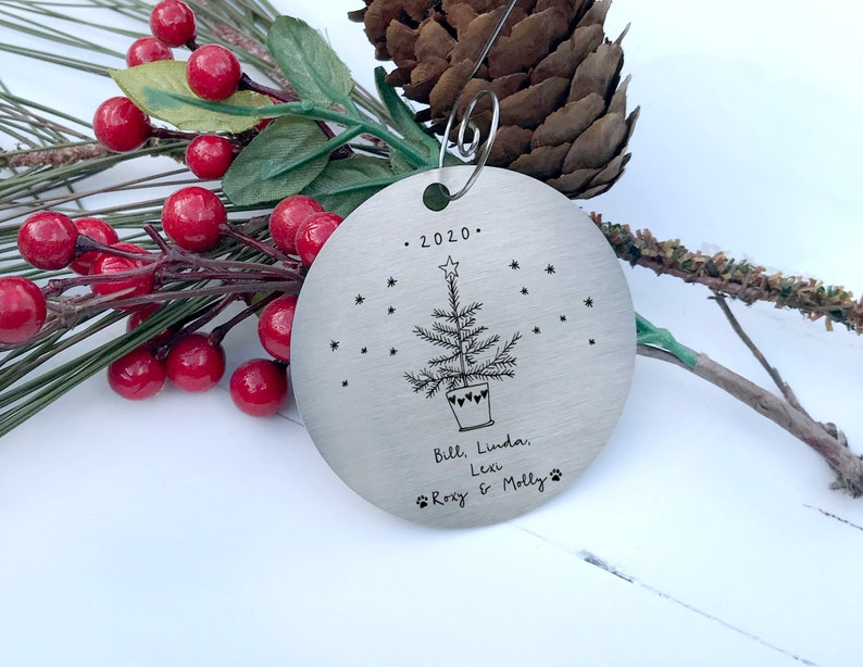 pewter snowflake 2019 Personalized Christmas ornaments personalized Christmas ornaments Hand Stamped Hand Stamped personalized Snowflake